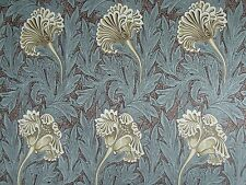 "WILLIAM MORRIS CURTAIN FABRIC DESIGN ""Tulip"" 2.4 METRES BULLRUSH/SLATE"