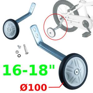 "KIDS CHILDS BIKE CYCLE STABILISERS TRAINING WHEELS 16"" TO 18"" PAIR NEW BAR KIDS"