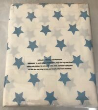 "The company store duvet Cover Full/Queen 100% Cotton 88""x86"" Sky Blue Stars New"