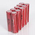 10PCS 18650 GTL Li-ion 5300mAh 3.7V Rechargeable Battery for LED Flashlight CFE