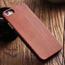 Apple iphone 7 8 4.7 hard back real wood case wooden cover brown bamboo cherry