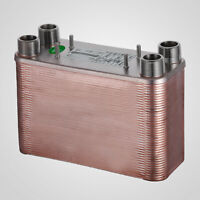 80 Plate Heat Exchanger water to water brazed 1.25 MPT 5x12'' Stainless Used
