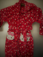 BHS Girls Red Hooded HELLO KITTY Dressing Gown age 5 eu110