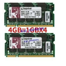 For Kingston 4GB 4x1GB PC1-2700 DDR1-333MHz PC Laptop Memory Notebook SODIMM RAM