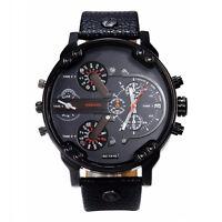 Luxuriös Herren Armbanduhr Datum Edelstahl Leder Militär Armee Armbanduhren PAL