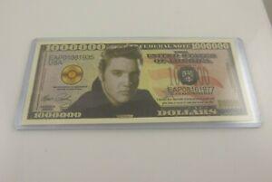 Faux million funny money Elvis Presley Novelty fake stocking stuffer the King