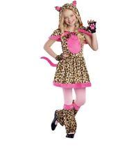 Nwt Cattitude Cat Leopard Print Pink Halloween Costume Girls Size L 10-12