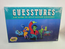Vintage 1990 Guesstures board Game of Split-Second Charades New