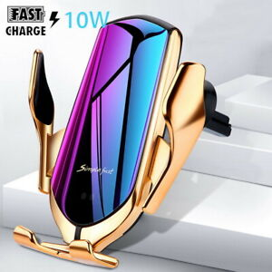 For iPhone  11  12 Pro Max Automatic Clamping Wireless Car Charger Fast Charging