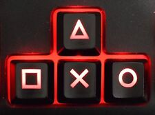 PlayStation PS4 Themed Black Backlit ABS Keycaps for Mechanical Keyboard