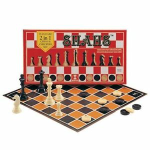 SHAHS Chess And Checkers 2 IN 1 [ SPM GAMES ] Family Edition [ SPM 86 ]