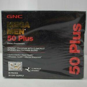 GNC Mega Men 50 Plus Vitapak Program 30 Packets. Exp 01/2022