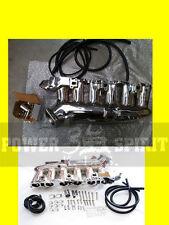KLS POLISHED POWER plenum/ inlet/INTAKE manifold TURBO NISSAN RB25 SKYLINE R33