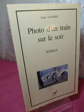 PHOTO D'UN TRAIN SUR LE SOIR  Serge Gaubert
