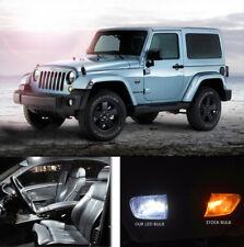 13pc Xenon White Interior LED Lights Lamp Package kit For 2007- 17 Jeep Wrangler