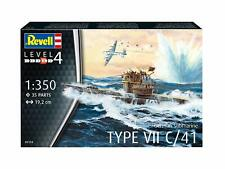 German Submarine Type VII C/41 1:350 Revell Model Kit