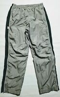 NIKE - WORKOUT / ATHLETIC / TRACK PANTS - MENS MEDIUM - GRAY - ANKLE ZIP