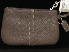 COACH F42389 SV/MAHOGANY LEATHER WRISTLET NEW WITH TAGS