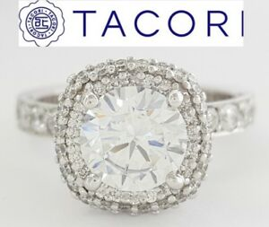 0.67 ct TACORI Blooming Beauties 38-25CU75 18k Gold Semi-Mount Engagement Ring