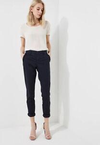 Pantaloni Chino Donna LIU JO F18111 T6747 Nero con Decorazioni W33 (ITA 47)
