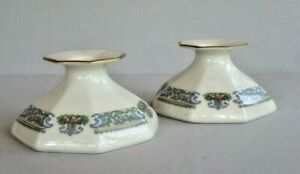 Lenox Autumn (with Gold Back Stamp) Set of 2 Candlesticks- Mint