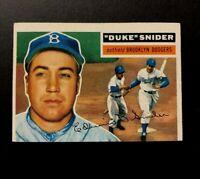 "1956 Topps #150 Edwin ""Duke"" Snider baseball card Brooklyn Dodgers"