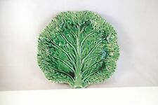 Vintage Bordallo Pinheiro Made in Portugal Leaf Shape Dish Art Pottery