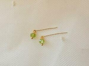 Antique Doll Jewelry Petite Genuine Peridot Earrings ~ BeBe,French,Bisque Jumeau