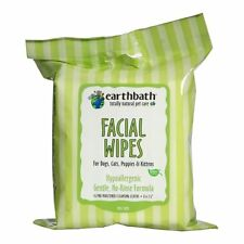 EARTHBATH 25 Count Facial Wipes Pouch for Dogs Cats Puppies and Kittens