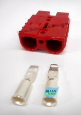 Red Charger Plug Connector 50 amp, with 6Ga contacts Tennant Nobles 605387