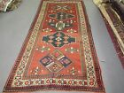 Antique  Kazak Gallery Rug 5'-8 x 10'-8 Hand Knotted Wool
