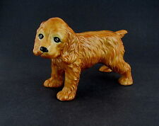 "Ceramic Blonde Cocker Spaniel Figure, 9 1/2"" long"
