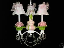 Shabby French Pink Rose Chandelier Child's Nursery