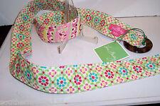 Vera Bradley Capri Melon Reversable BELT Tortoise Buckle Pink Fashion CUTE NWT