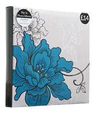Anker Slip in Photo Album Blue Botanical 140 Slip-in 6x4 Album
