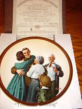 Norman Rockwell's The Homecoming Edwin Knowles China Plate 1990 +Mint+