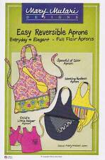 Easy Reversible Aprons Pattern by Mary Mulari. Full Flair