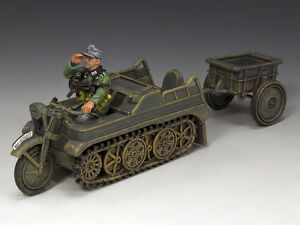King & Country Sd.KFz.2 Kettenkrad and Trailer WH023