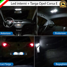 KIT LED INTERNI ABITACOLO OPEL CORSA E + LED TARGA 6000K BIANCO CANBUS NO ERROR