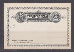 ECUADOR, Postal Card, 1895 2c. Black, unused.