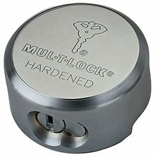 """Mul-t-lock TR 100 """"Hockey Puck"""" padlock"""