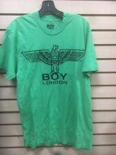 BOY London  Large 100% Authentic NEW Mens T-shirt Dark Blue sz new light green