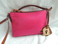 Dooney & Bourke Red Canvas Handbag Shoulder Cross Body Bag Tote Messenger