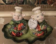 Corner Ruby Collection Pig Salt Pepper Shakers Ceramic  Easter Spring