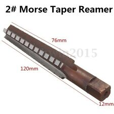 MT2 Steel Morse Taper Hand Reamers Milling Finishing Cutter Tools New