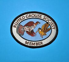 Ruffed Grouse Society Patch MEMBER Upland Bird, Woodcock hunting conservation