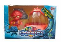 Exogini Ufogino Squiddy Jones & Red Spaceship - (Damage Packaging) - EXG02110