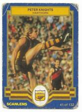 "1986 Scanlens (41) Peter KNIGHTS Hawthorn  "" """