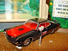 "1970 70 FORD TORINO COBRA LIMITED EDITION 1/64 BLACK M2 ""MSD"" IGNITION RACE CAR"