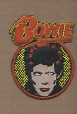 New 2 3/4 X 3 3/4 Inch David Bowie Iron On Patch Free Shipping